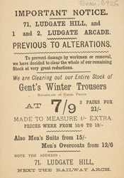 Advert for a men's clothing store 6426